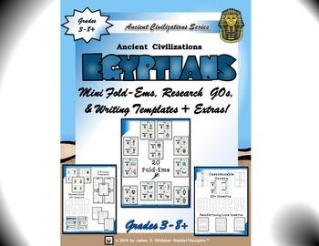 Ancient Civilizations Interactive Mini Research Fold-Em Mega Bundle