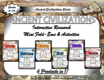 Ancient Civilizations Interactive Mini Research Fold-Em Me
