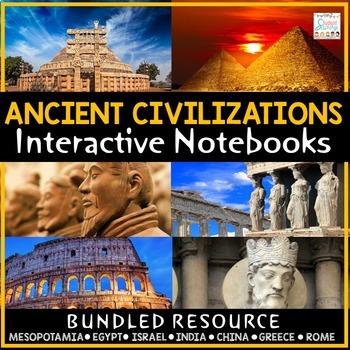 Ancient Civilizations Interactive Notebooks   Coronavirus Distance Learning