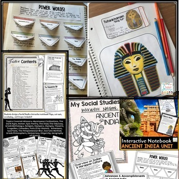 Ancient Civilizations Interactive Notebooks   Distance Learning Activities