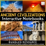 Ancient Civilizations 6th Grade Interactive Notebooks | An