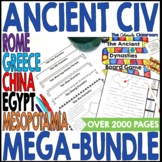Ancient Civilizations Interactive Notebook Bundle and Activities
