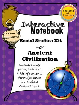 Ancient Civilizations Interactive Notebook Unit Cover Pages and Tabs