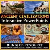 Ancient Civilizations PowerPoints & Google Slides | Google Classroom 6th Grade