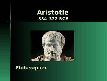 Ancient Civilizations - Key Figures - Aristotle