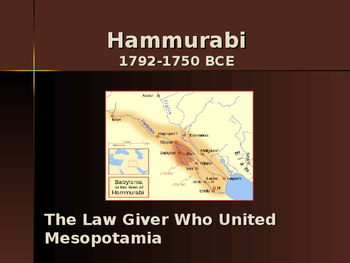 Ancient Civilizations - Key Figures - Hammurabi
