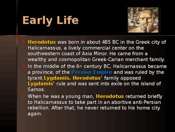 Ancient Civilizations - Key Figures - Herodotus