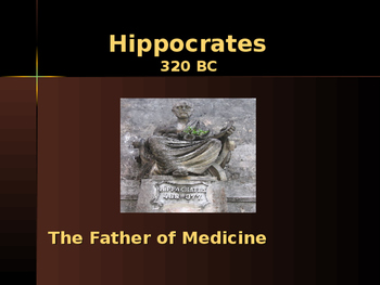 Ancient Civilizations - Key Figures - Hippocrates