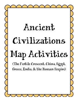 Ancient Civilizations Map Activities (bundle)
