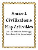 Ancient Civilizations Map Activities (bundle)