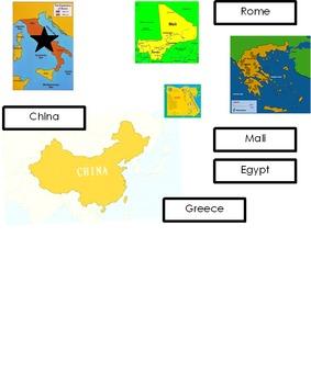 Ancient Civilizations Map Skills