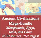 Ancient Civilizations Mega-Bundle: Mesopotamia, Hebrews, Egypt, India, and China