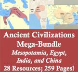 Ancient Civilizations Mega-Bundle: Mesopotamia, Hebrews, Egypt, India, and China