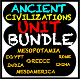 Ancient Civilizations Bundle (Mesopotamia,Egypt,India,Chin