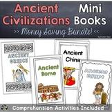 Ancient Civilizations Mini Books BUNDLE | Greece, Rome, China, Egypt