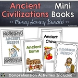 Ancient Civilizations Mini Books BUNDLE   Greece, Rome, China, Egypt