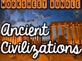 Ancient Civilizations Worksheets & Printables Bundle