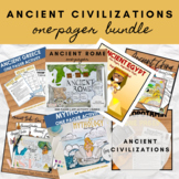 Ancient Civilizations One Pager Activities