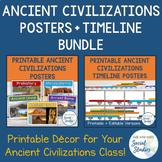 Ancient Civilizations Posters + Timeline Bundle