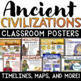 Ancient Civilizations Posters Timelines Maps Ancient Histo