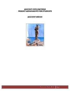 Ancient Civilizations Projects: Greece, Grades 5,6,7,8