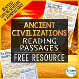 Ancient Civilizations Reading Passages Free Resource
