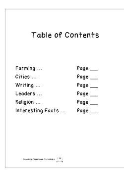 Ancient Civilizations Report Format