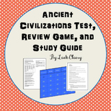 Ancient Civilizations Review Game, Study Guide, and Test--Editable!