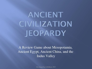 Ancient Civilizations Review - Jeopardy