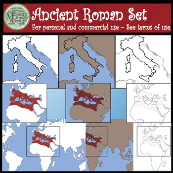 Ancient Civilizations - Roman Empire Clip Art Set {Messare Clips and Design}
