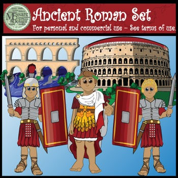 Ancient Civilizations - Roman Empire Clip Art Set {Messare