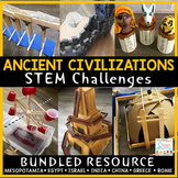 Ancient Civilizations STEM Challenges History STEM | Distance Learning Covid-19