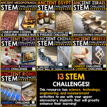 Ancient Civilizations STEM Challenges History STEM | Distance Learning Packets