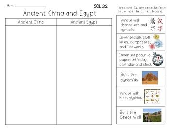 Ancient Civilizations Sorting Trio