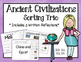 Ancient Civilizations Sorting Trio {SOL 3.2, 3.3, 3.4}