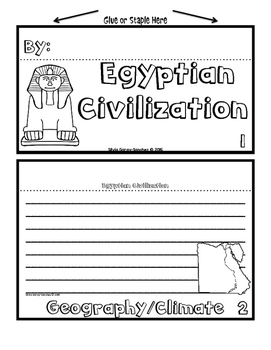 Ancient Civilizations Staggered Booklets