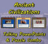 Ancient Civilizations Talking PowerPoints (3) & Puzzles Co