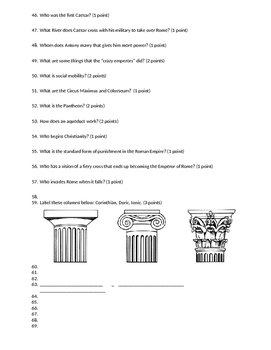 Ancient Civilizations Test