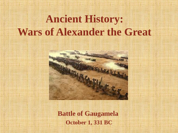 Ancient Civilizations - The Wars of Alexander the Great -