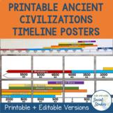 Ancient Civilizations Timeline Posters
