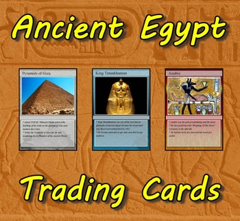 Ancient Civilizations Trading Cards Combo (Egypt-Greeks-Romans)
