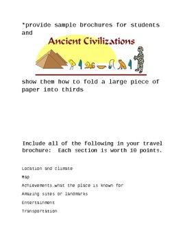 Ancient Civilizations Travel Brochure
