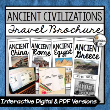 ancient civilizations travel brochure project by learning lab tpt