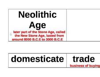 Ancient Civilizations Vocabulary