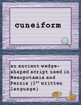Ancient Civilizations Vocabulary For Google Classroom and One Drive