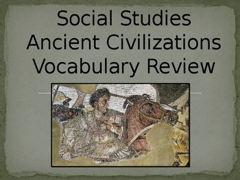 Ancient Civilizations Vocabulary Review