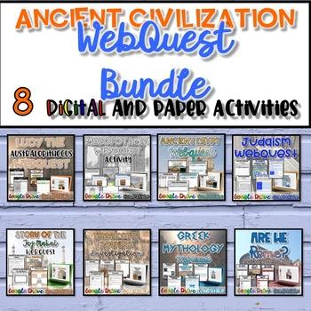 Ancient Civilizations WebQuest Bundle