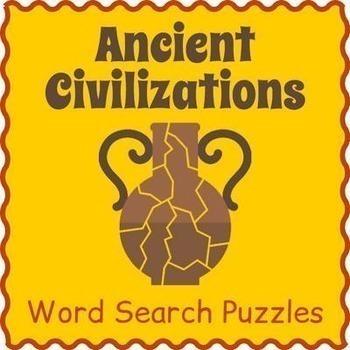 Ancient Civilizations Bundle - 6 Word Search Puzzles