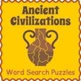 Ancient Civilizations BUNDLE - 7 Word Search Puzzles