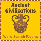 ANCIENT CIVILIZATIONS BUNDLE - World History Word Search Worksheets